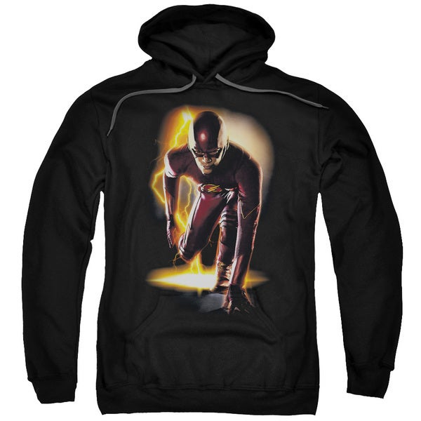 The Flash/Ready Adult Pull-Over Hoodie in Black