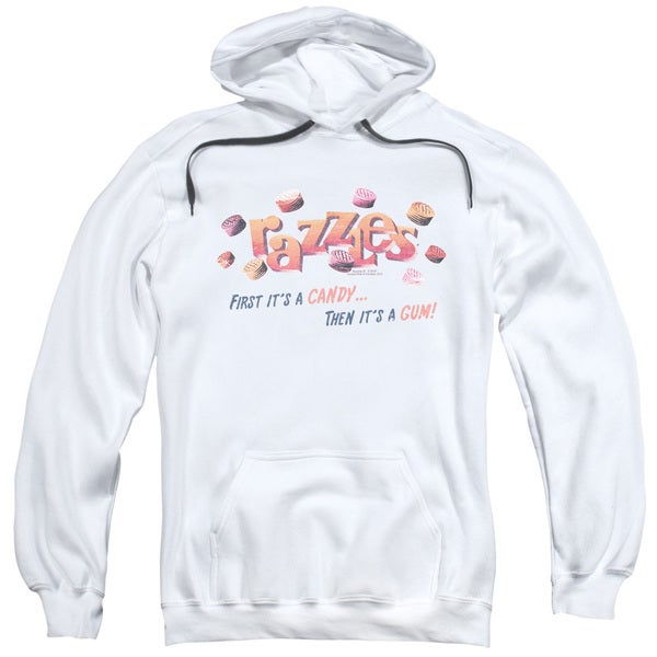 Dubble Bubble/A Gum and A Candy Adult Pull-Over Hoodie in White