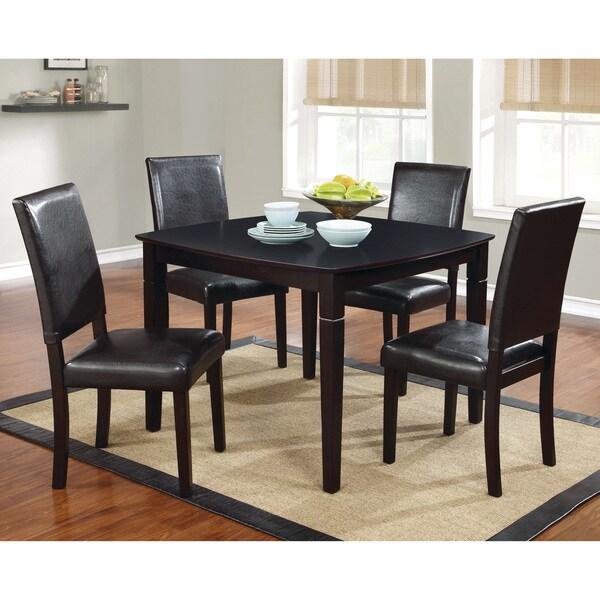 Furniture of America Maysa Modern 5-piece Dark Cherry Dining Set