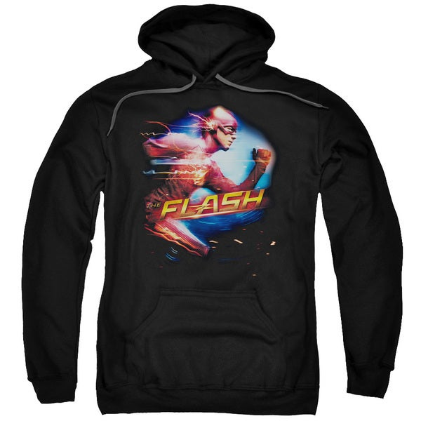 The Flash/Fastest Man Adult Pull-Over Hoodie in Black