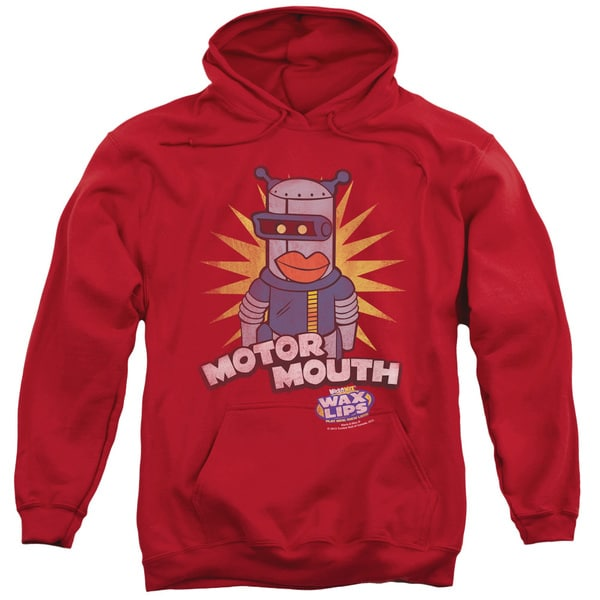 Dubble Bubble/Motor Mouth Adult Pull-Over Hoodie in Red