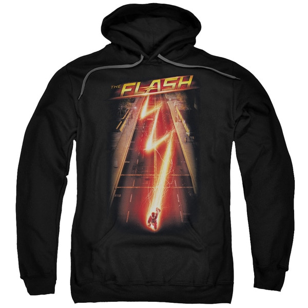 The Flash/Flash Ave Adult Pull-Over Hoodie in Black