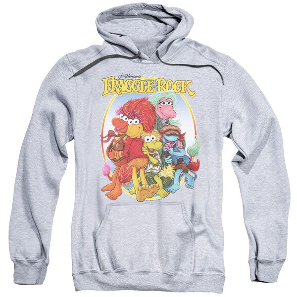 Fraggle Rock/Group Hug Adult Pull-Over Hoodie in Heather