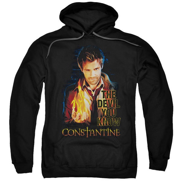 Constantine/Devil You Know Adult Pull-Over Hoodie in Black