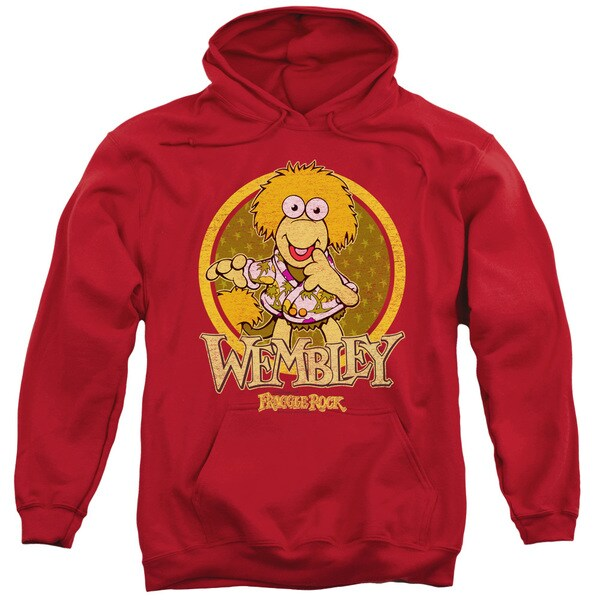 Fraggle Rock/Wembley Circle Adult Pull-Over Hoodie in Red