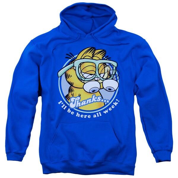 Garfield/Performing Adult Pull-Over Hoodie in Royal Blue 18730093