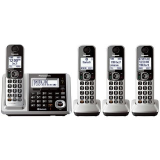 Panasonic Link2Cell Bluetooth Cordless Phone and Answering Machine with 4 Handsets