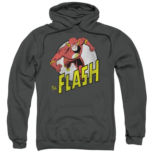 DC/Run Flash Run Adult Pull-Over Hoodie in Charcoal
