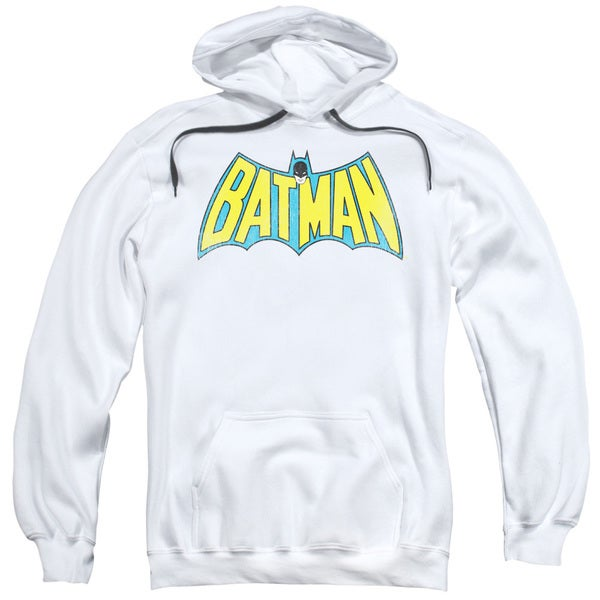 DC/Classic Batman Logo Adult Pull-Over Hoodie in White
