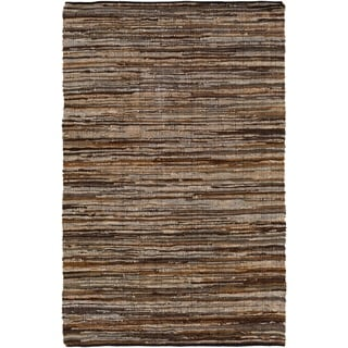 Mossy Oak : Hand Woven Balbach Leather/Cotton Rug (5' x 7'6)