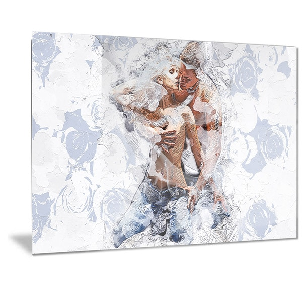 Designart 'Fashion Passion Sensual Metal Wall Art