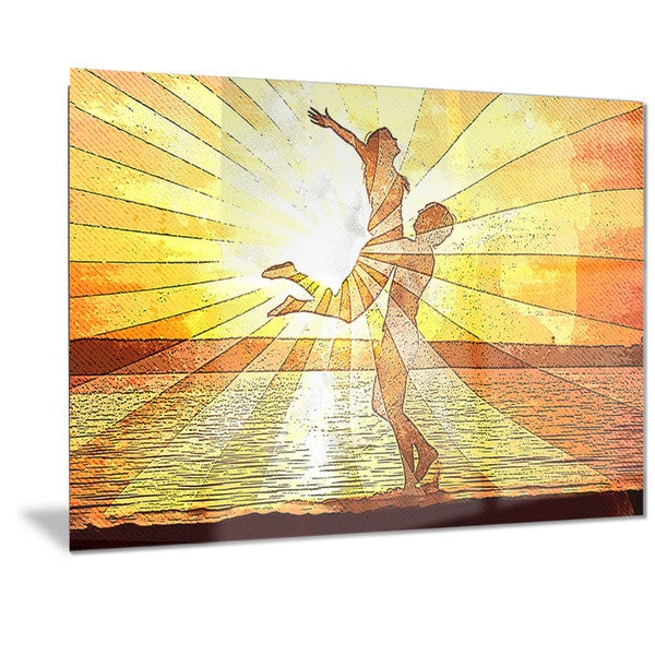 Designart 'Rays of Light Sensual Metal Wall Art
