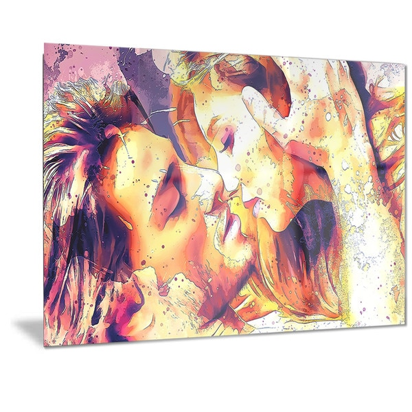 Designart 'Hold me Now, Hold me Forever Sensual Metal Wall Art
