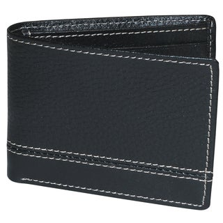 Buxton Leather Monroe RFID Front Pocket Slimfold Wallet