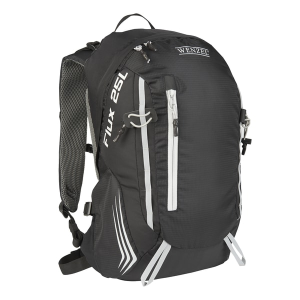 Wenzel Flux 25-liter Black Polyester Backpack