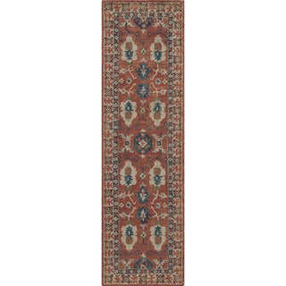 Hand-Tufted Kasbah Constantine Red Wool Rug (2'3 x 8')