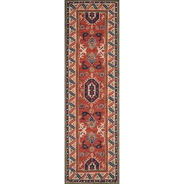 Hand-Tufted Kasbah Adana Ivory Wool Rug (2'3 x 8')