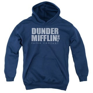 The Office/Dunder Mifflin Distressed Youth Pull-Over Hoodie in Navy