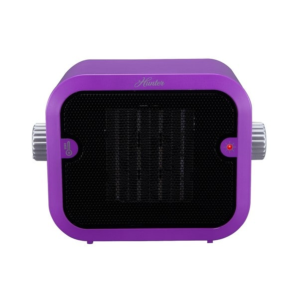 Hunter 1500W Retro Purple Ceramic Space Heater
