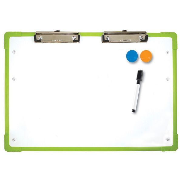 Flipside Products Magnetic Dry Erase Desktop Slant Board Set With Dry Erase Pen and 2 Magnets