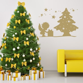 Style and Apply 'Christmas Angel' Vinyl Wall Art Decal