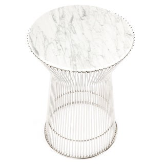 Hans Andersen Home Fishburne Carrera Style Marble-top Side Table