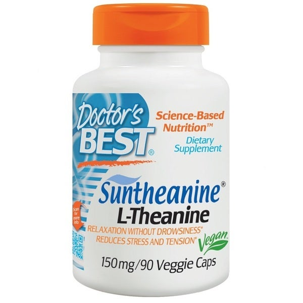Doctor's Best Suntheanine L-Theanine 150 mg Veggie Caps (90 Caplets)