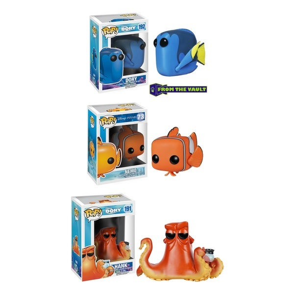 Funko Finding Dory: POP! Disney Collectors Set With Dory, Nemo & Hank 18737280