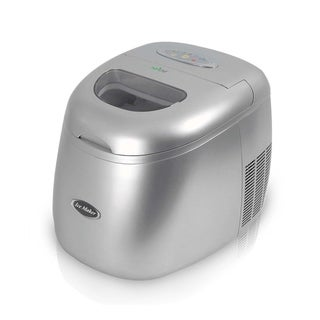 NutriChef PICEM15 Ultra Quiet Stainless Steel Countertop Ice Cube Maker