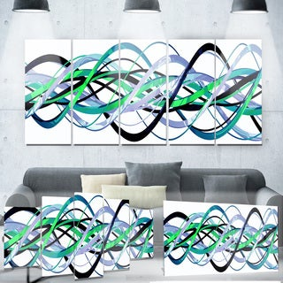 Designart 'Green and Silver Helix' Metal Wall Art