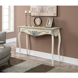 Convenience Concepts White Wood French Provence Park Lane Console Table