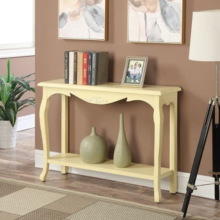 Convenience Concepts Belmont Cream Wood French Provence Console Table