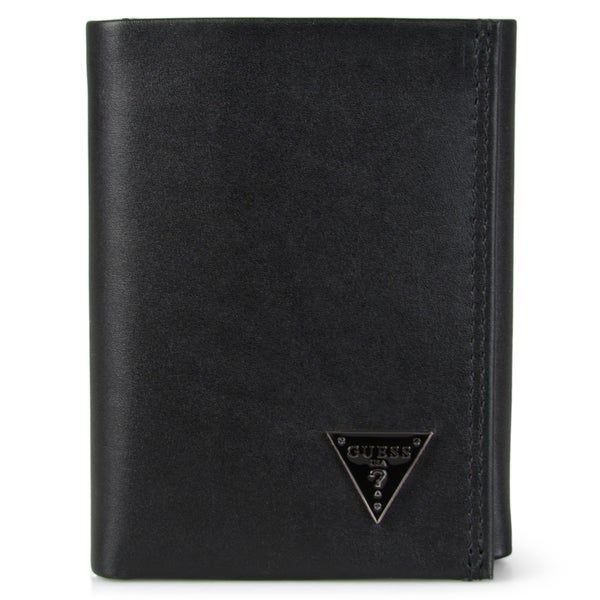 Guess Men's Genuine Leather Trifold Credit Card Wallet