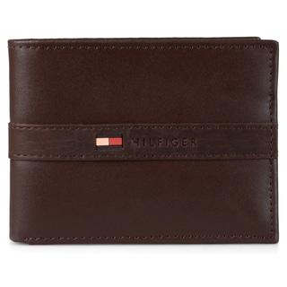 Tommy Hilfiger Men's Genuine Leather Bifold Passcase Wallet