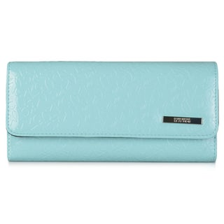 Kenneth Cole Reaction Women's Embossed Elongated Clutch Wallet