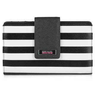 Kenneth Cole Reaction Women's Utility Tab Striped Clutch Wallet