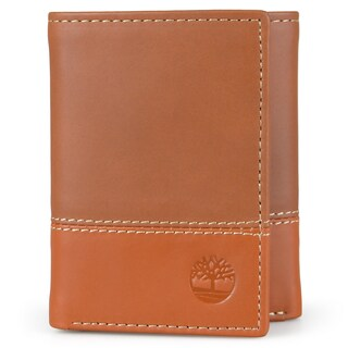 Timberland Men's Genuine Leather Tri-fold Wallet