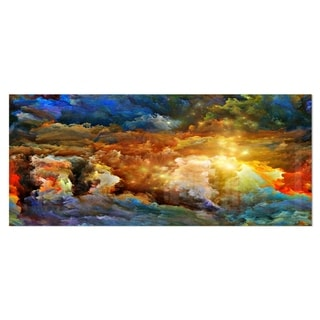 Designart 'What Colors May Come' Abstract Metal Wall Art