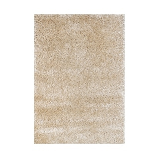 Alliyah European Elegance Beige Luxuriously Soft Texture Shag Rug (4'x6')