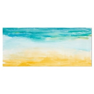 Designart 'Soil and Sky Strokes' Landscape Metal Wall Art
