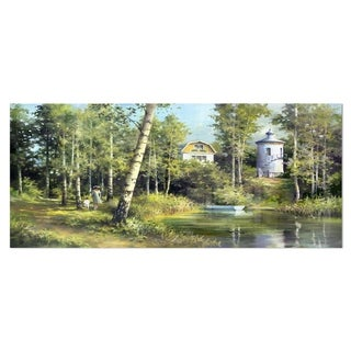 Designart 'The River in the Spring' Landscape Metal Wall Art