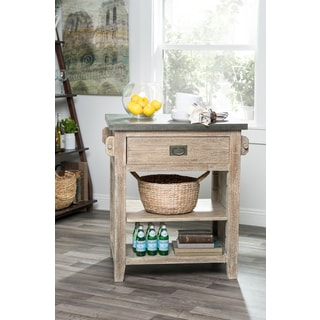 Kosas Home Arthur Zinc-top Kitchen Island