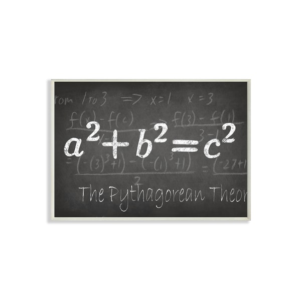 The Pythagorean Theorem' Wall Plaque Art