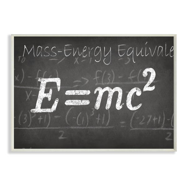 Mass Energy Equivalent' Wall Plaque Art