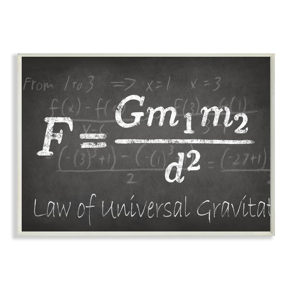 Law Of Universal Gravity' Wall Plaque