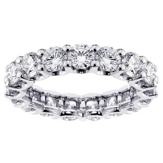 Platinum 3 4/5ct TDW Diamond Eternity Band (G-H, SI1-SI2)
