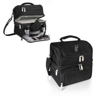 Picnic Time San Antonio Spurs Black Polyester Pranzo Lunch Tote