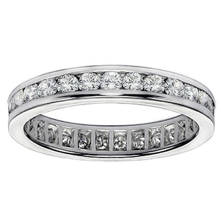 Platinum 1 1/10 - 1 1/3ct TDW Diamond Eternity Band (G-H, SI1-SI2)