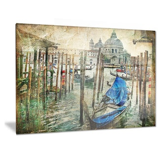 Designart 'Beautiful Venice' Landscape Metal Wall Art