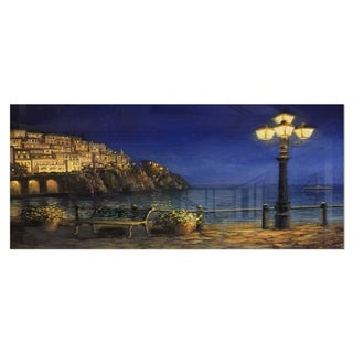 Designart 'Summer Evening in Amalfi' Landscape Metal Wall Art